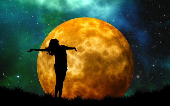 woman and moon cropped